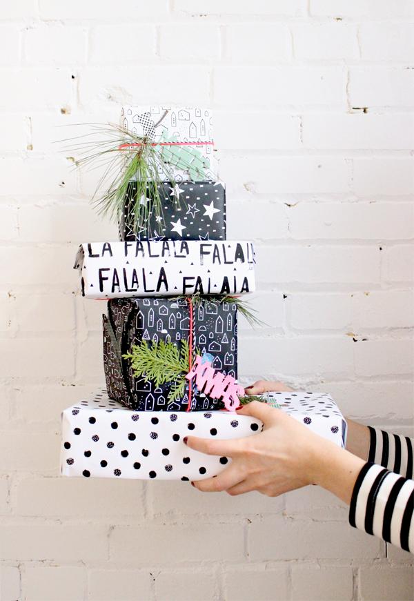 mfa -- designer textile - papiers emballage noël -- client : Baba Souk, crédit photo Baba Souk