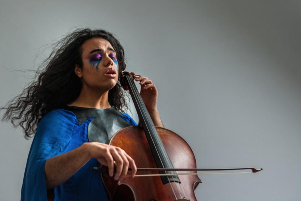 SiennaMartz - HAND DYED CUSTOM MADE CLOAK FOR MUSICIAN DANIEL DE JESUS 2015