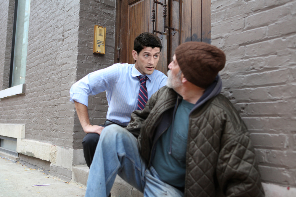 Katrina Rasma Design + Photography - Final: Paul Ryan kneeling by homeless person