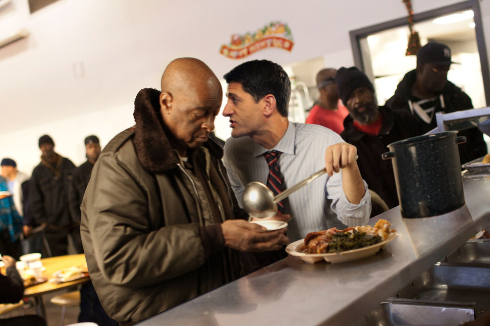 Katrina Rasma Design + Photography - Final: Paul Ryan at soup kitchen