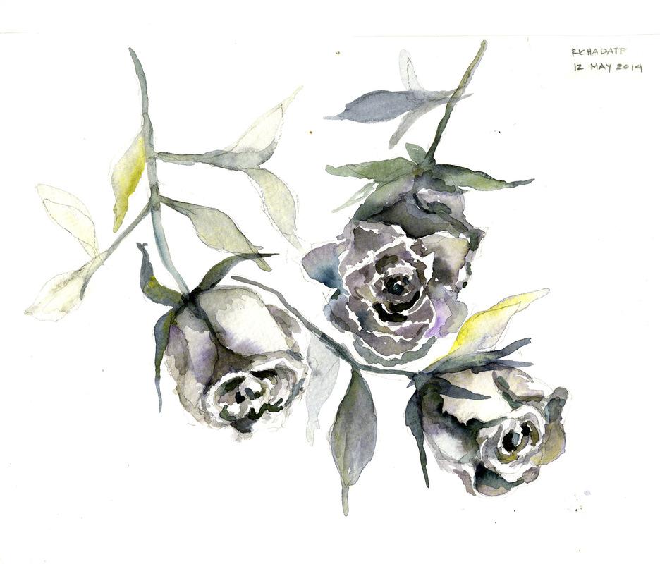 Richa Date - monochrome roses