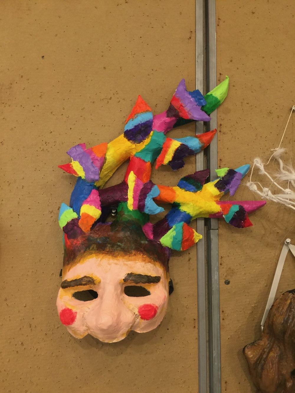 Ariel Wang - The Magic Flute Papageno Mask, Paper Mache