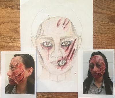 Ariel Wang - Zombie makeup