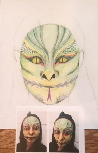 Ariel Wang - Lizard makeup