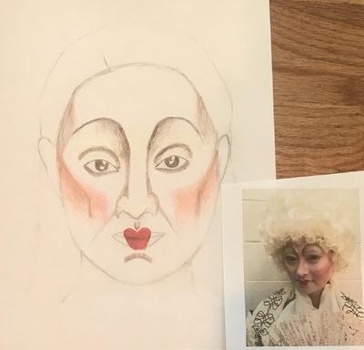 Ariel Wang - Elizabethan makeup
