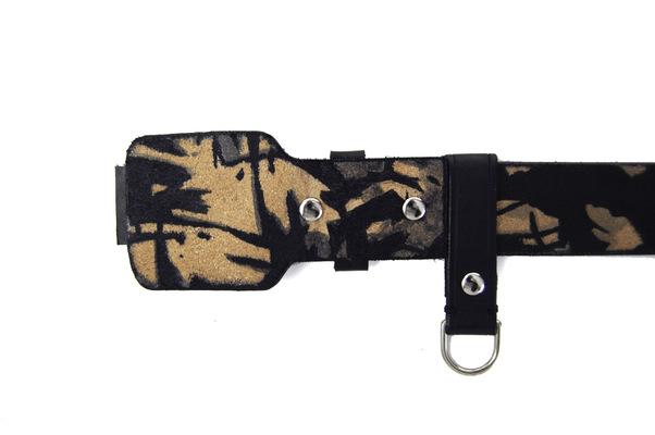 Brendan Kuletz - Black camouflage pattern.