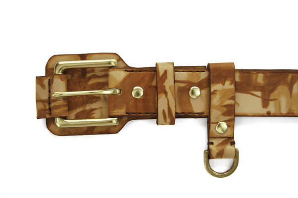 Brendan Kuletz - Hand painted with a saddle tan on top on an oak leaf shoulder.