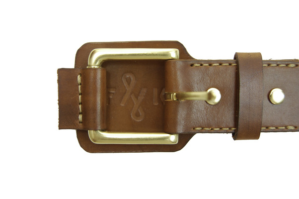 Brendan Kuletz - Light Brown with embossed F&K logo.