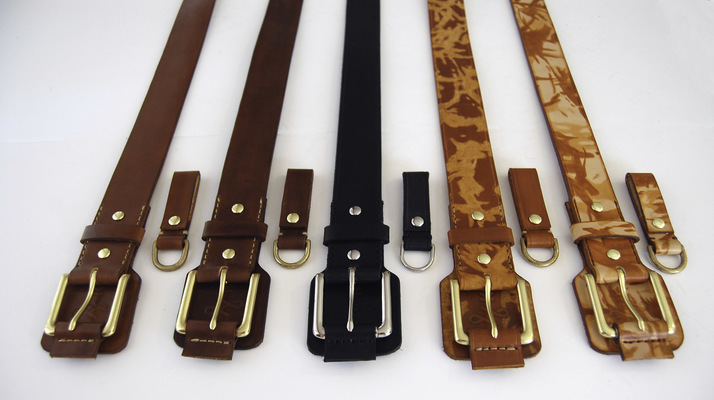 "Brendan Kuletz - ""Mullet"" Belts with detachable D-rings."
