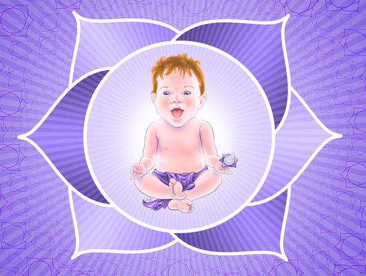 Geoffrey Brittingham all-nite illustration - Yoga Baby.