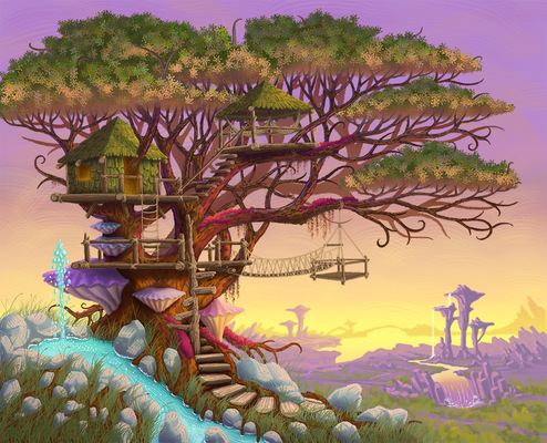 Geoffrey Brittingham all-nite illustration - Treehouse.