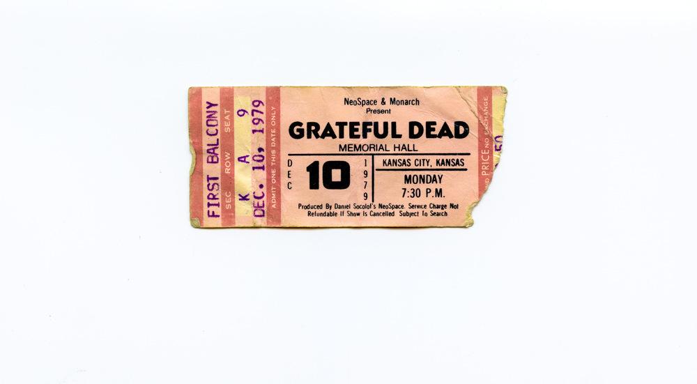 Andy Gershon Photography - Grateful Dead December 19, 1979 Memorial Hall Kansas City, KS