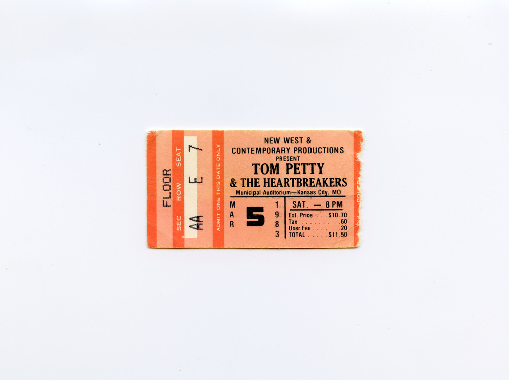 Andy Gershon - Tom Petty March 5, 1983 Municipal Auditorium Kansas City, MO