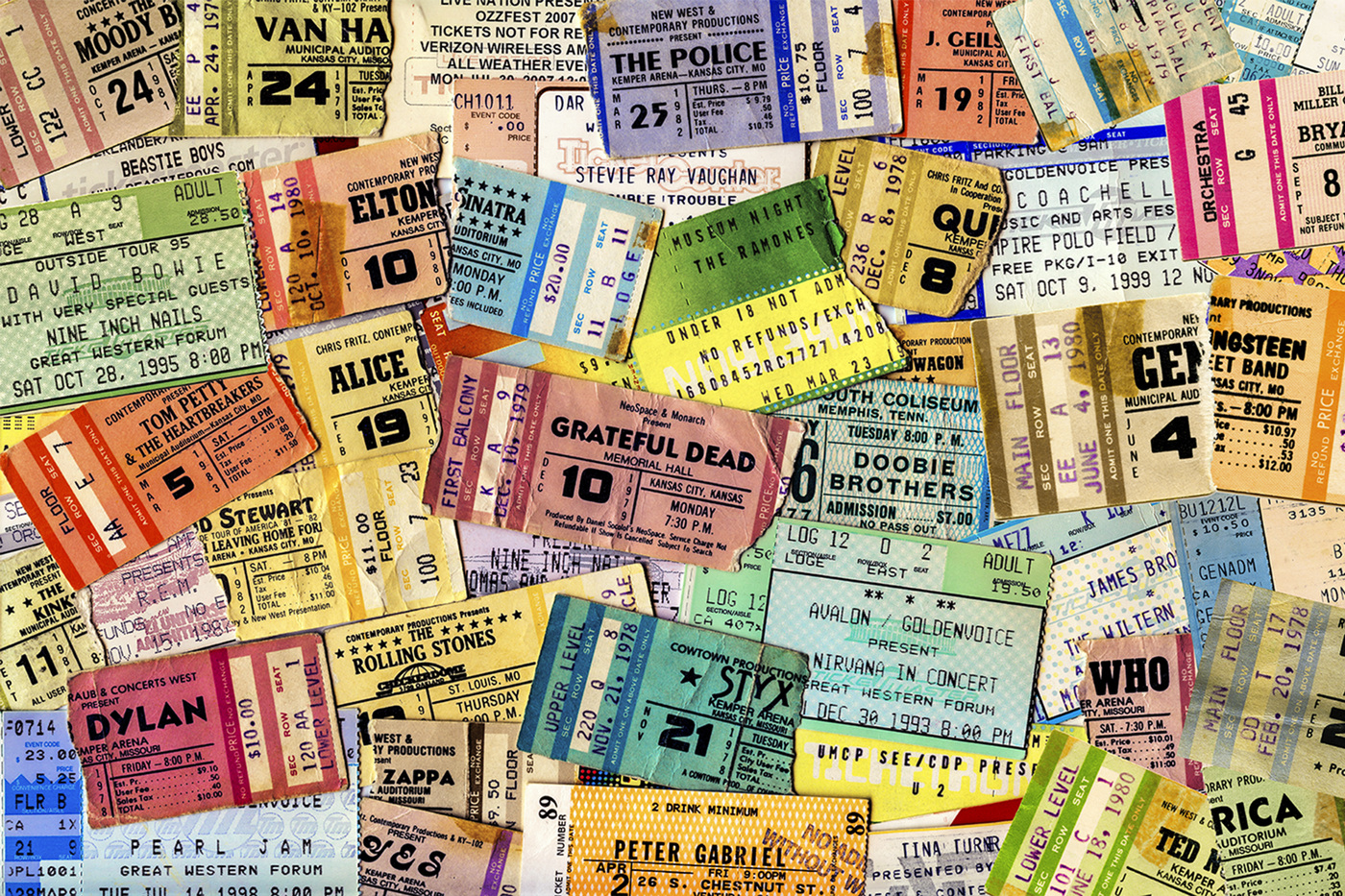 Andy Gershon - Ticket Drawer Collage - Commissioned for NYC office