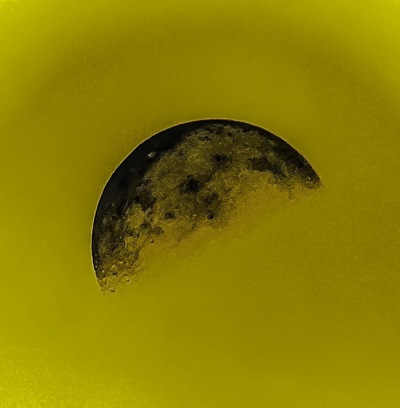 Andy Gershon Photography - Half Moon (Black/Gold) Inkjet on Canvas