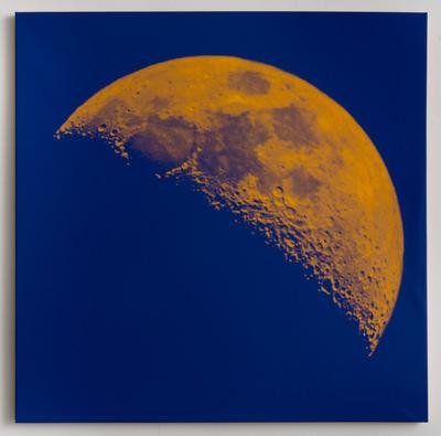 Andy Gershon - 35% Illumination 9/9/17 (Orange/Purple) SIlkscreen on Canvas
