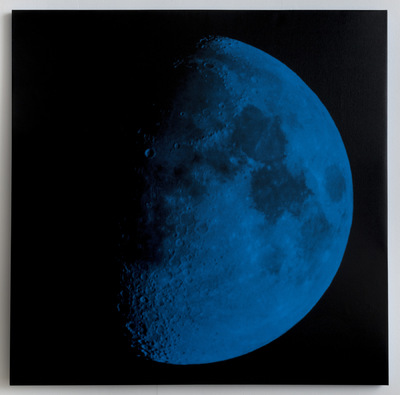 Andy Gershon - 63% Illumination 9/29/17 (Blue/Black) Inkjet on Canvas