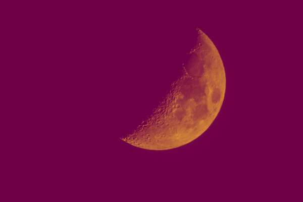 Andy Gershon - Half Moon (Orange/Purple) Inkjet on Canvas