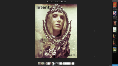 Audrey Froggatt - Latent Magazine Issue IV. Cover (photo not mine) See images after
