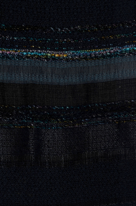 Daniela Guarin - Detail. Combination of linen, and copper bamboo yarn