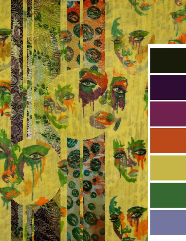 Daniela Guarin - Fabric and Color Board