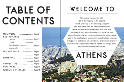 Natallie Rainer Graphic Design Portfolio - Athens page 1-2