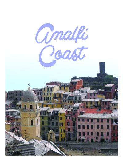 Natallie Rainer Graphic Design Portfolio - Amalfi Coast Guide #2