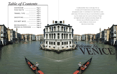 Natallie Rainer Graphic Design Portfolio - Venice page 1-2