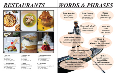 Natallie Rainer Graphic Design Portfolio - Venice Restaurants and Words & Phrases