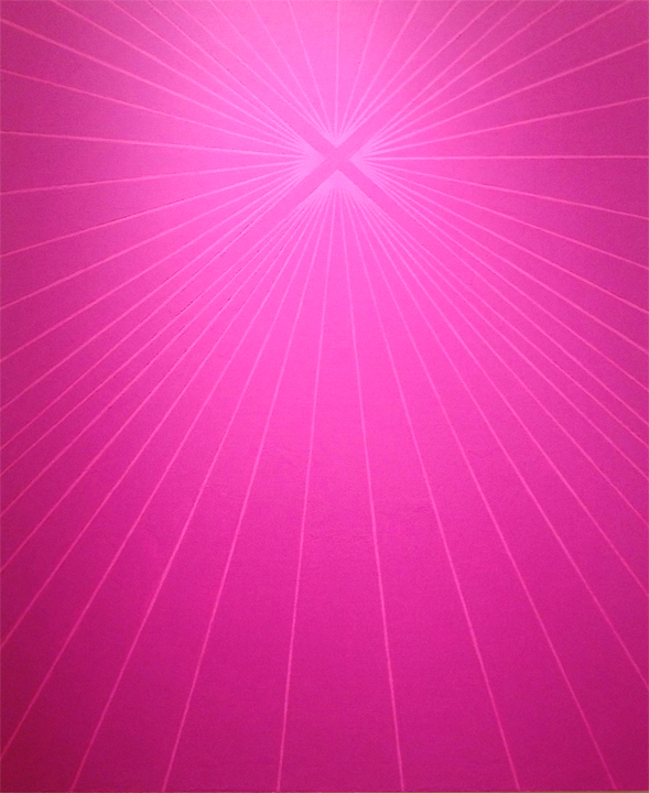 Janos Cseh - Purple on Pink. acrylic on canvas. 60 x 50 in. 2013
