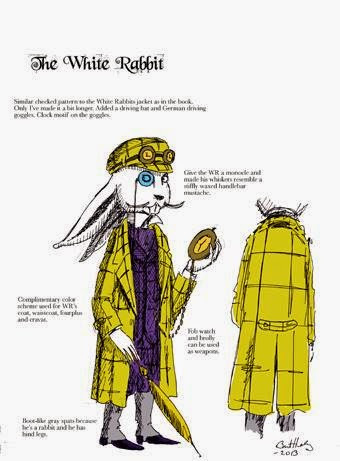 Bret M. Herholz - Original character sheet for the White Rabbit