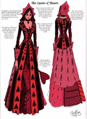 Bret M. Herholz - Original character sheet for the Queen of Hearts