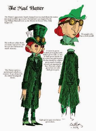 Bret M. Herholz - Original character sheet for the Mad Hatter