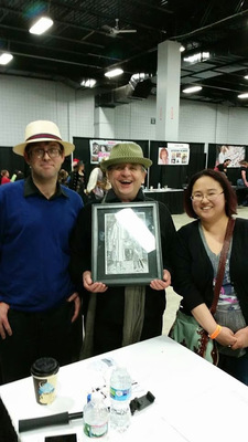 Bret M. Herholz - Presenting Sylvester McCoy with the Original