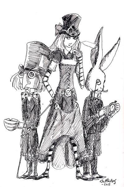 Bret M. Herholz - Steampunk Alice
