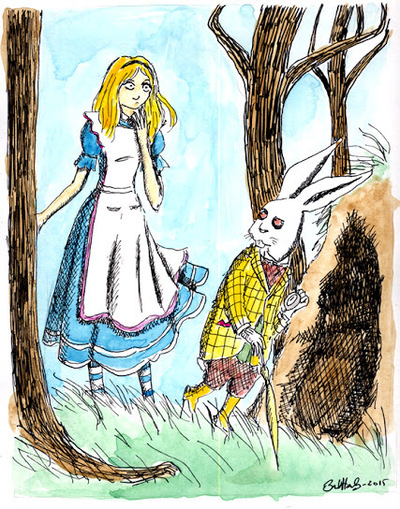 Bret M. Herholz - Alice and the White Rabbit