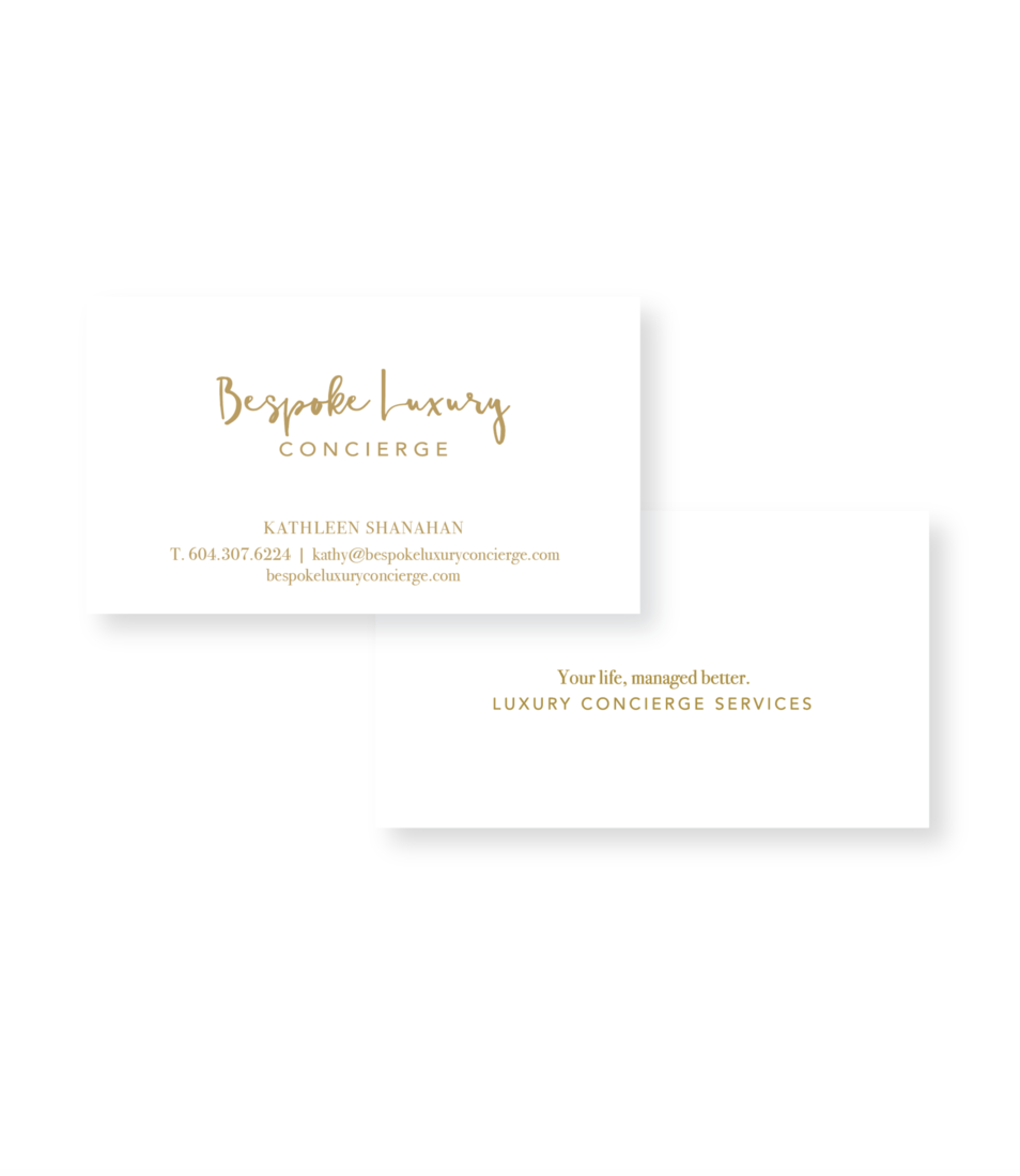 Bespoke luxury concierge business cards reheart Choice Image