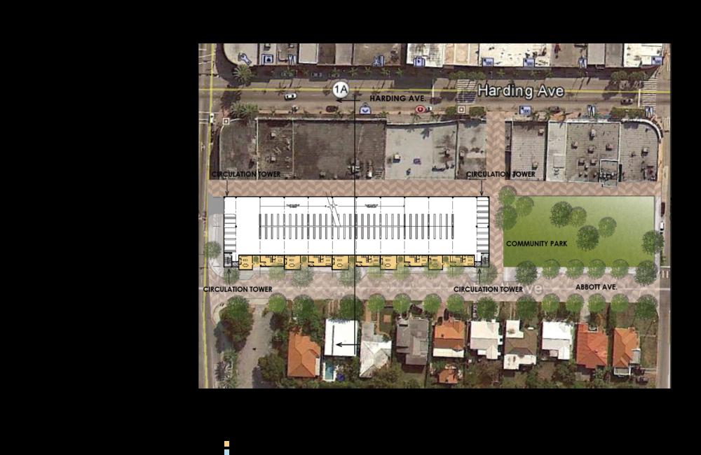 REINES & STRAZ - Architecture Interiors Planning - Harding Avenue Streetscape & Garages - Surfside*