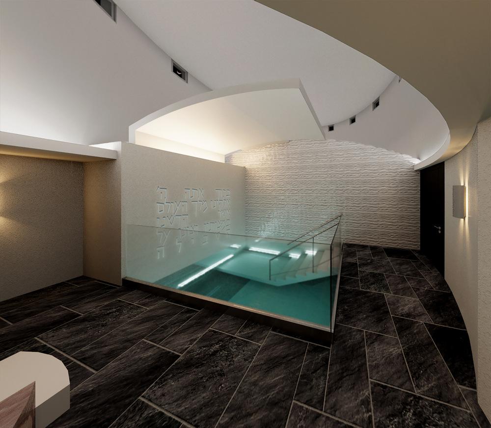 REINES & STRAZ - Architecture Interiors Planning - Miami Beach Mikvah