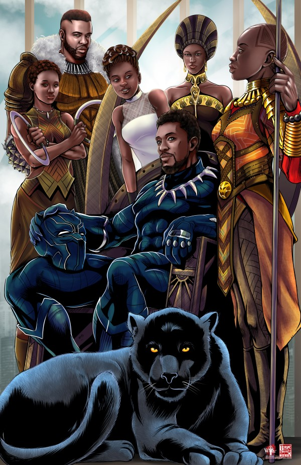 black panther t 39 challa family portrait. Black Bedroom Furniture Sets. Home Design Ideas