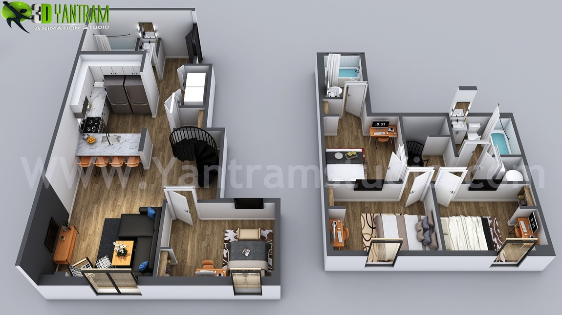 Yantram Studio - 3D Home Floor Plan Designs By Yantram floor plan designer - Washington, USA